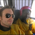 Me and Festo in our rafting gear.