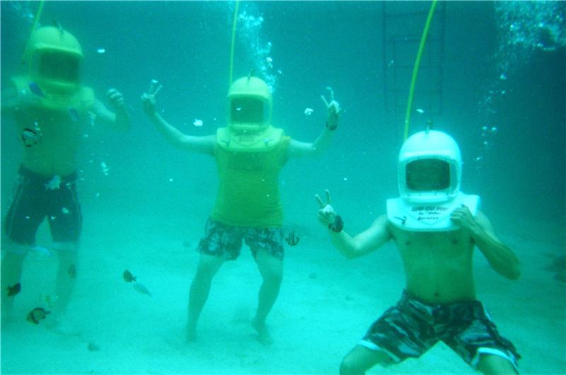 under water walking