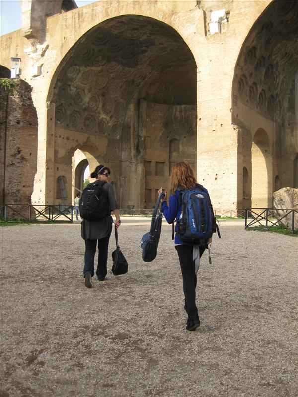the forum..i hated carrying my backpack!