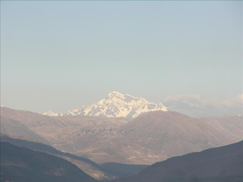 An Andean snow-capped peak, visible from Saqsayhuaman.