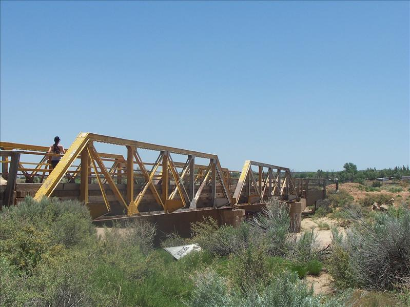 We couldn't drive across this bridge since it is closed, but it is part of original Route 66