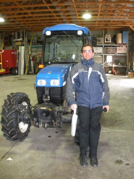 me and the tractor