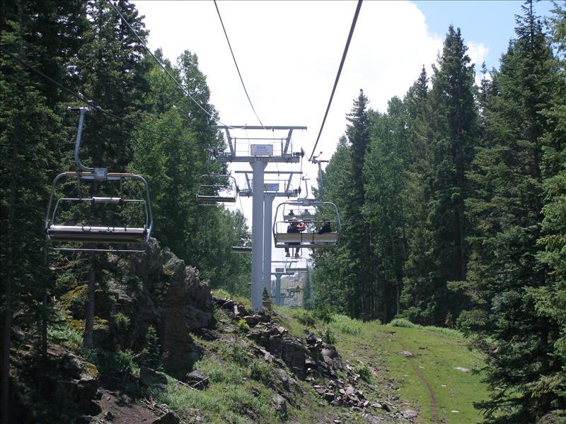 Off season Sunrise Ski Resort lifts