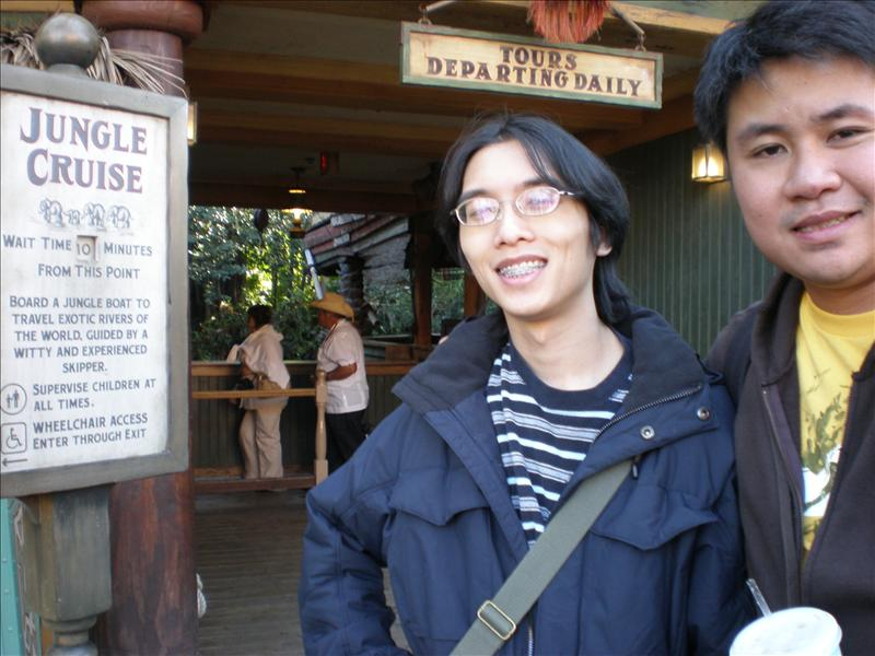 With James outside Jungle Cruise