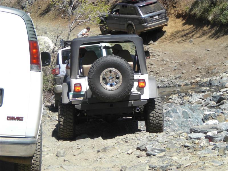 10 spots later, white Jeep gets fed up and gets past them. We weren't as lucky.