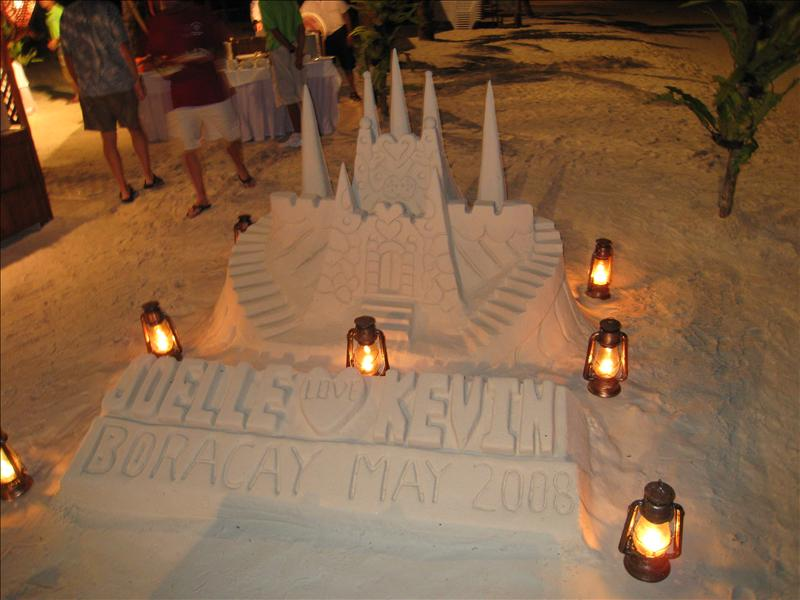 finished sandcastle