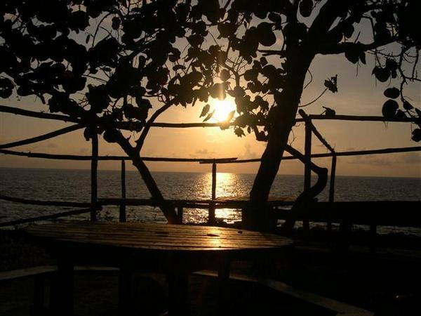 sunset from 3 Dives on West End Road 