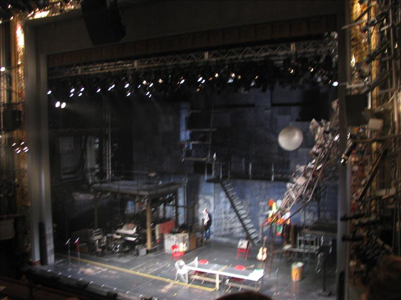 het theater van binnen (we mochten geen foto's maken, daarom een snelle foto gemaakt, helaas beetje vaag)