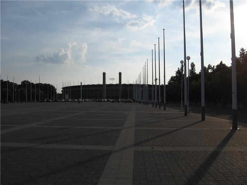 Empty Olympic Parking Lot