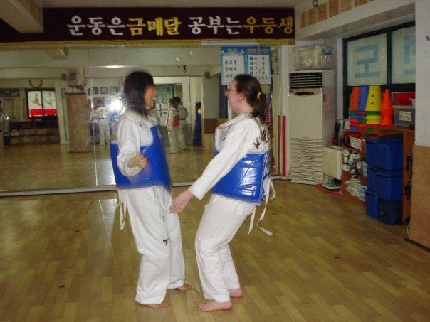 08/02 - Seoul - TaeKwonDo -   yeah this is a belly jump...