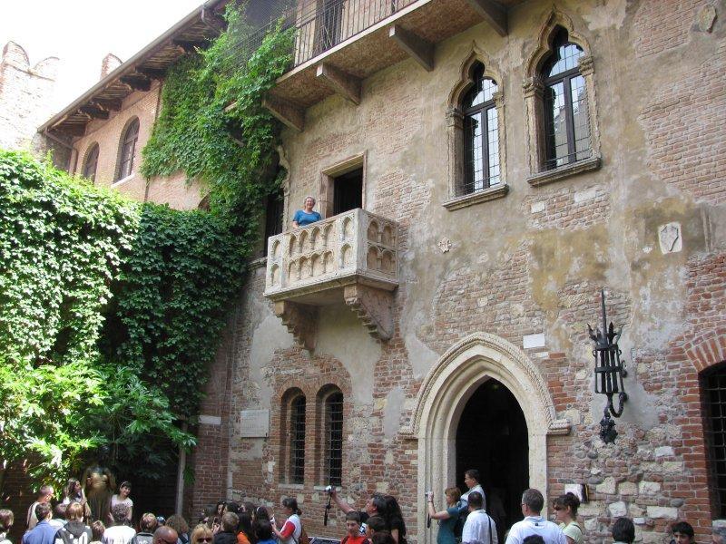 Juliet's (Judy's) balcomy in Verona...