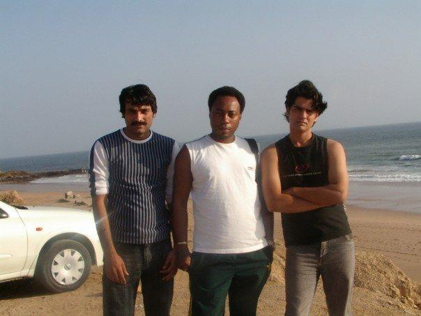accompay by Collin and Riz at karachi Huksbay beach