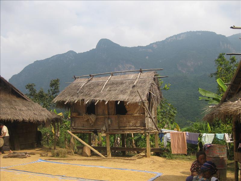 Hmong (Miao) hilltribe village