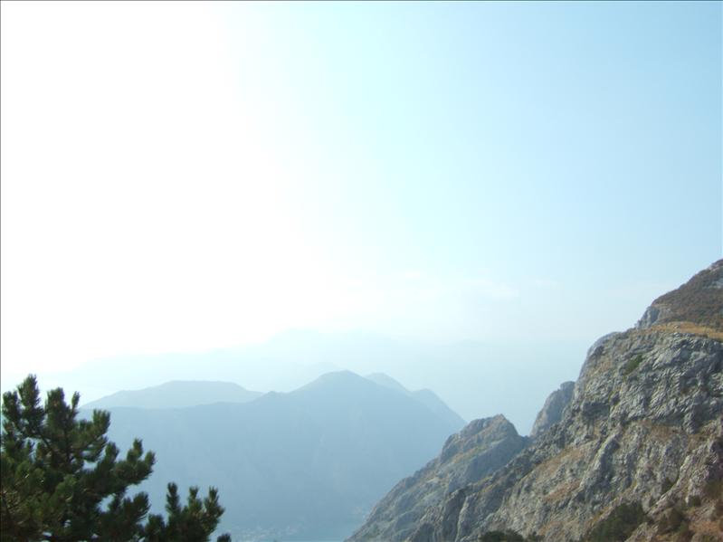 View from the 'Ladder of Cattaro' Road
