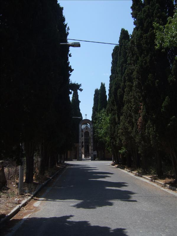 Kos Town - Entrance to Roman Catholic Church