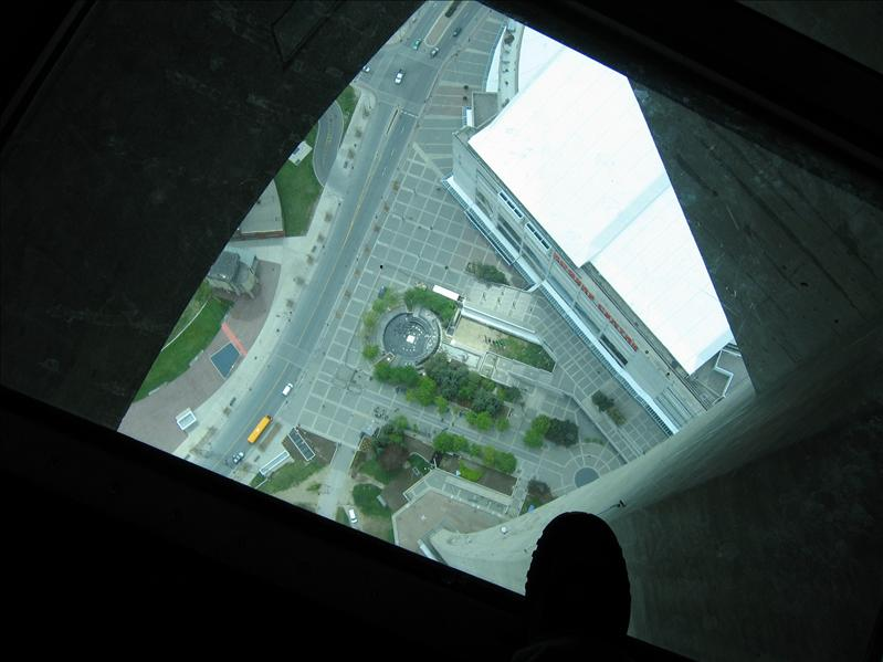 My Foot on the Window in the Floor of the CN Tower