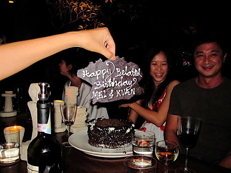 Celebrating Dec. birthdays for Mel and Kuan.