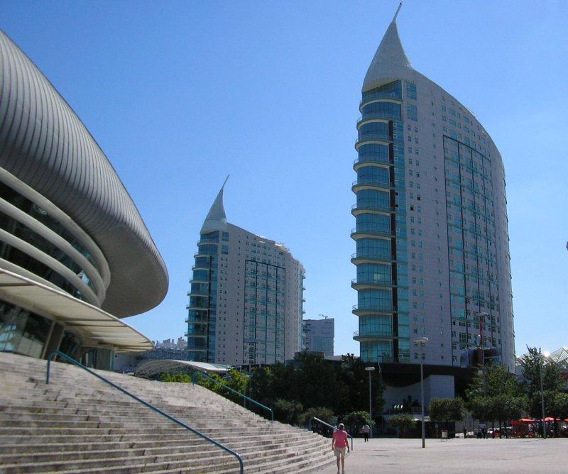 .. alongside modern towers.