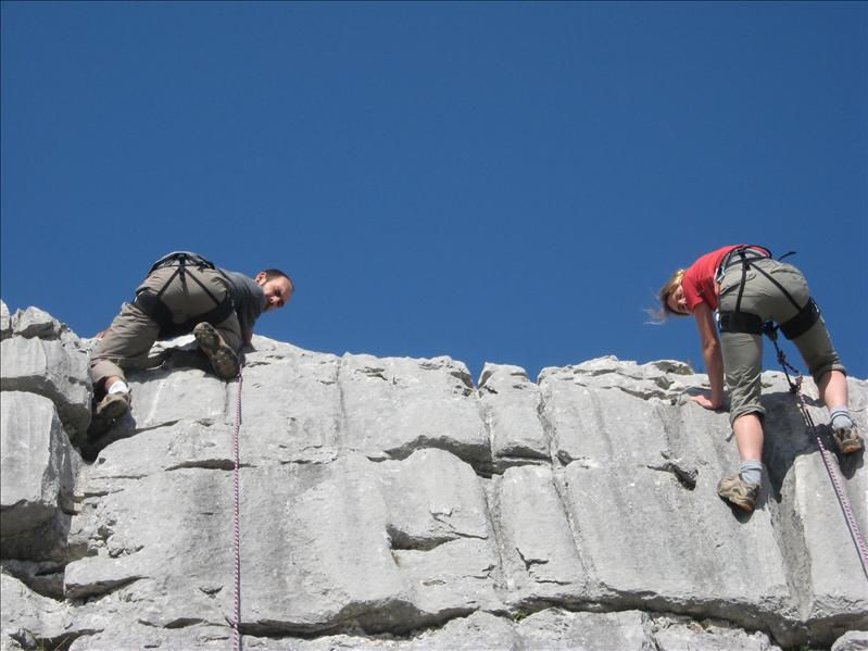 escalade•Cyril•Aline•Pierre du Moëlle•2008