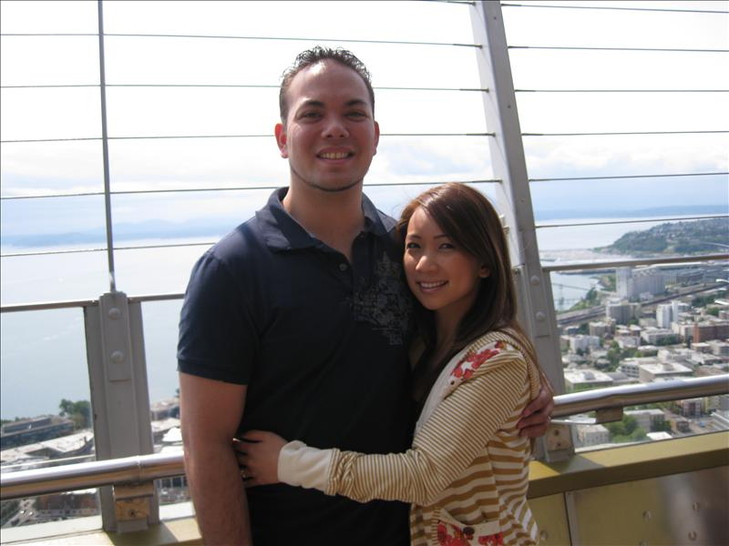 with my love on top of space needle
