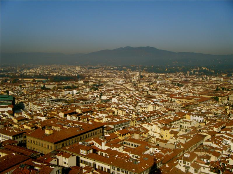 a view from the top of the duomo- a view of florence