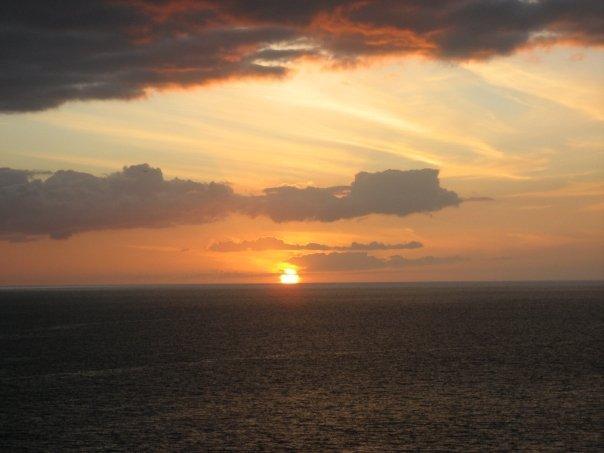 solnedgang over los christianos enda en dag