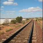 Railway line at a Salt Lake