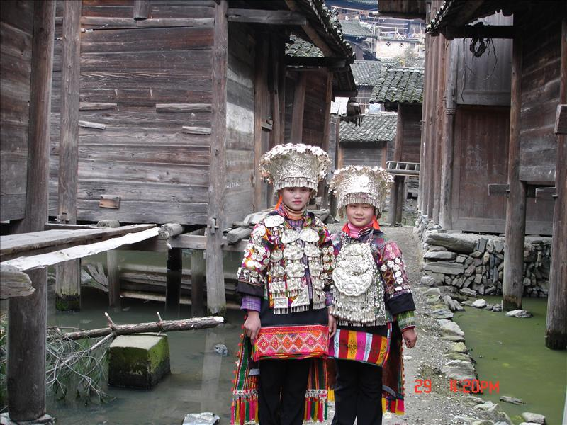 Miao Minority Sisters--www.china-tour.cn