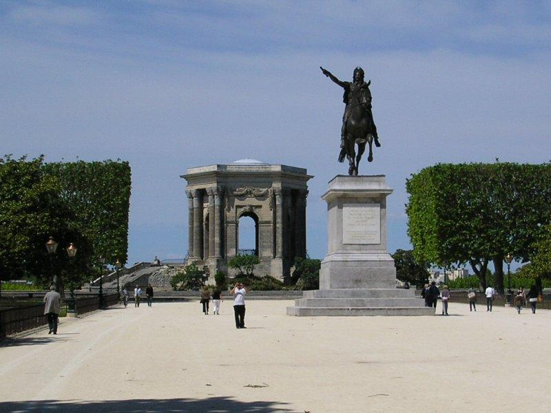 Statue of King Louis which took 16 years to travel from Paris to here