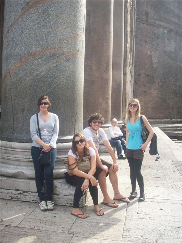 Infront of the pantheon, taking a breather