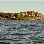 on the boat to Philae temple