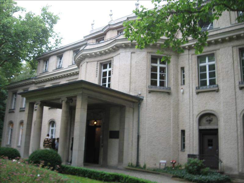 Site of the Wannsee Conference, January 20th 1942