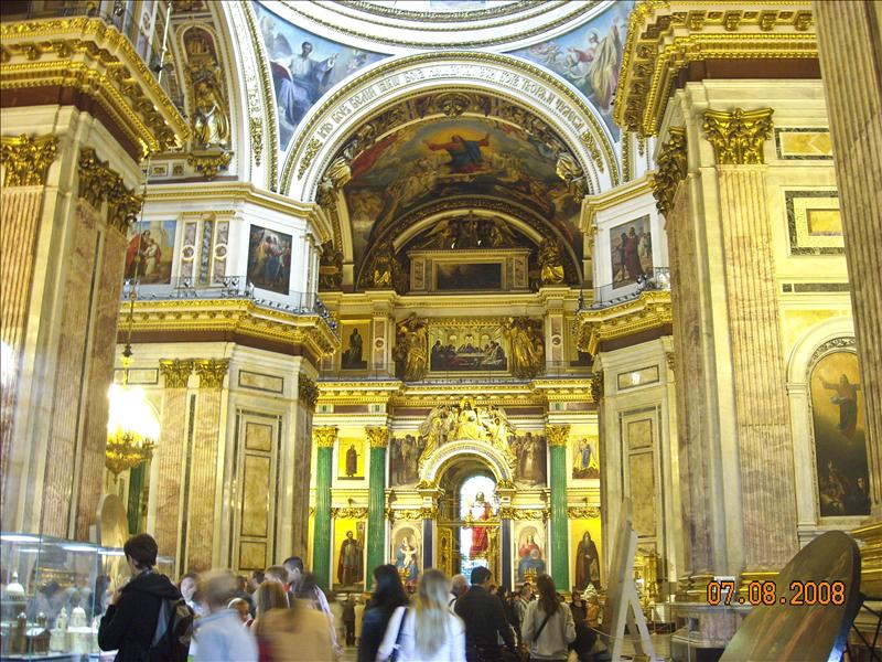 Inside Saint Isaac's Cathedral or Isaakievskiy Sobor