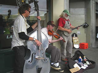 Band on the streets of Seattle - Public Market
