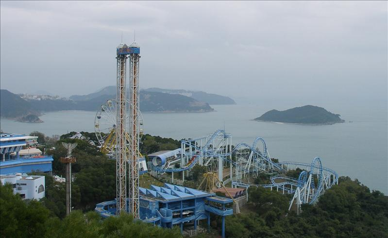 Ocean Park, the kids went on these, we had too much excitment just from watching.