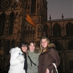 Laura, Lauren and I at York Minister