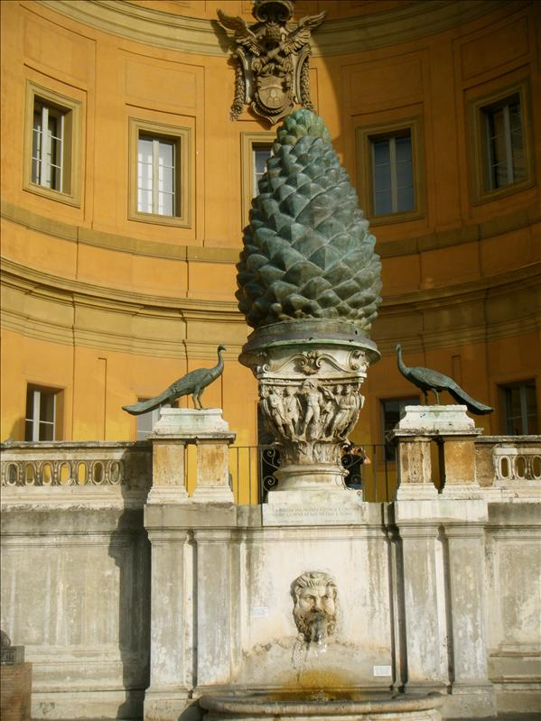 the pinecone at the vatican..the catholics are obsessed with it!