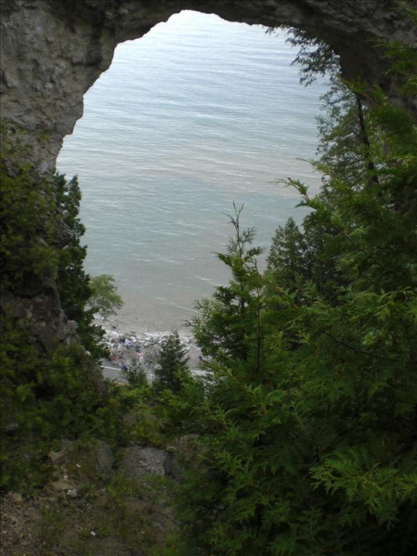 The Natural Arch on the Island..