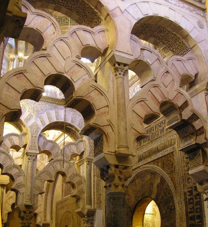 . with its peaceful columns and arches.....