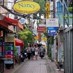 A BACK STREET IN BANGLUMPOO, BANGKOK
