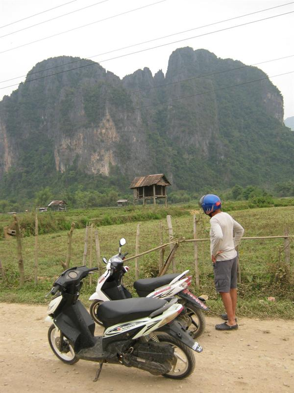 around vang vieng