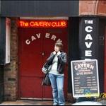 Ashley outside the Cavern.JPG