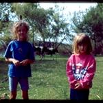 Mica y Vito con vacas