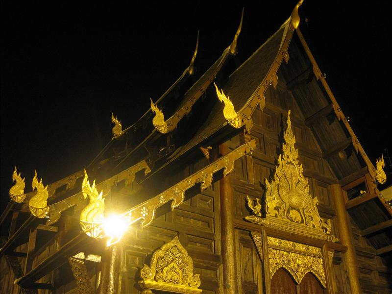 Another temple... a bit more modest than in Bangkok