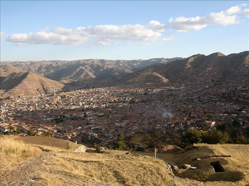 View of Cusco from Saqsayhuaman.