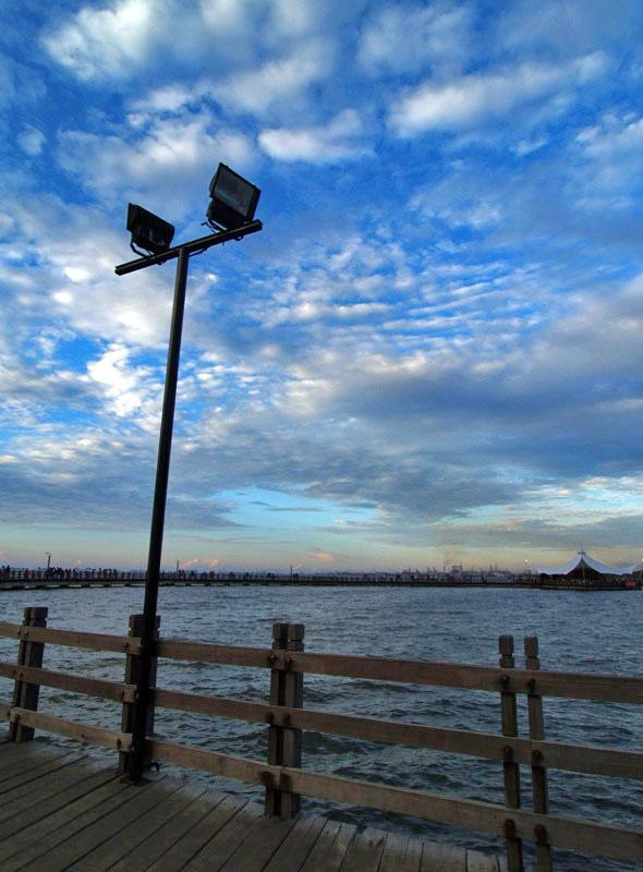 The Lamp at Ancol Beach.