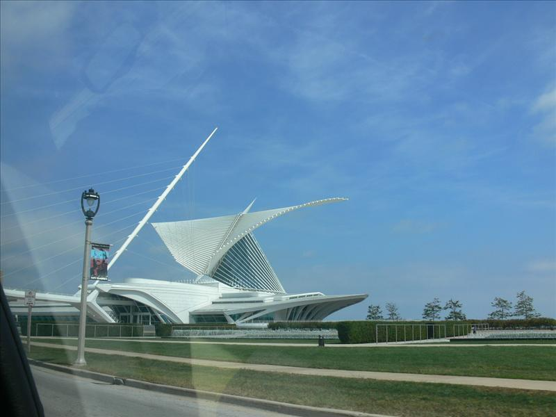 The calatrava with wings open