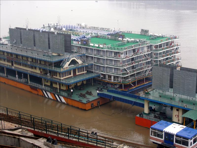 Prince, the river boat we going to spend 7-days on. Chongging.