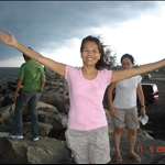At Jerudong Beach with Kim n Ranel