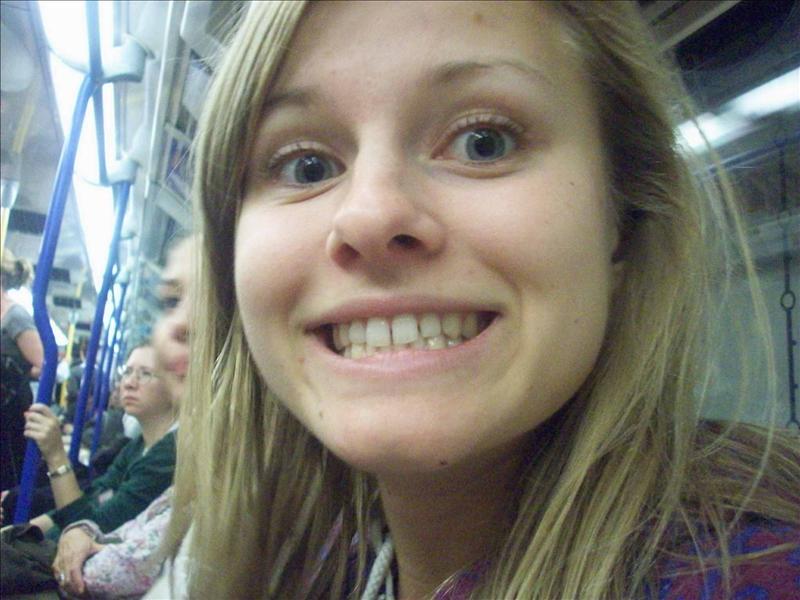 Miss Jess on the Subway.